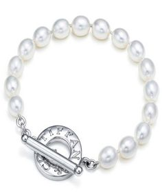 Tiffany & Co Outlet Freshwater Pearls Toggle Bracelet.  Every girl needs a set of pearls...or two!!