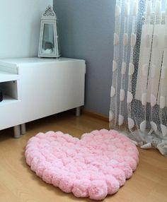 Pom Pom tapis tapis romantique les filles par PomPomMyWorld