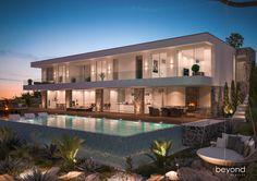 3D Visualisierung einer Neubau Villa in Krotien