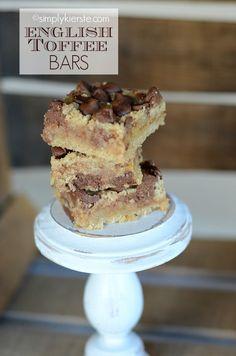 English Toffee Bars | simplykierste.com