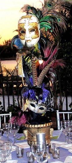 Venetian Carnival Centerpieces for South Florida Birthday event | Flickr - Photo Sharing!