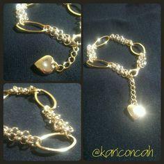 Bracelet gold pulseira dourada corrente com pingente by @kariconcah #semfiltro #pulseira