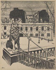 M. Dobuzhinsky, Petersburg, 1921, lithograph