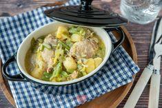 Snelle kipstoof in romige mosterdsaus Runner Beans, Ramen, A Food, Crockpot, Meat, Chicken, Ethnic Recipes, Cook, Chocolate