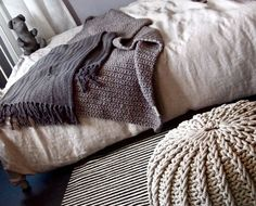 Home Bedroom, Bedrooms, Sweet Dreams, Throw Pillows, Blanket, Knitting, Decoration, Crochet, Interior