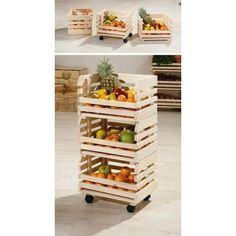 Minya Small Fruit and Vegetable Storage Rack we could stain this