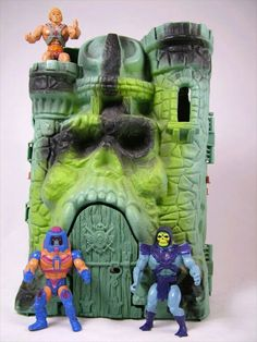 He man... I used to hang my Barbie curtains and put my Barbie furniture in my brother's He Man Castle and he would retaliate by tying a noose around my cabbage patch doll and hanging her from my bunk bed!