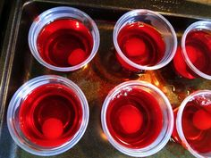 Cherry Bomb Jello Shots in a Pan