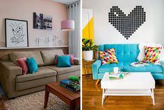 Como organizar almofadas no sofá e na cama