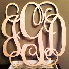 Monogram Wall Hangings groupon - one or two personalized monogram wall hangings from