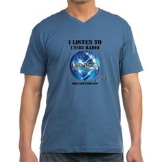 unir1 radio v neck t shirt a great radio station ......that promotes world wide   http://www.cafepress.com/cp/customize/product2.aspx?from=CustomDesigner&number=1600821258