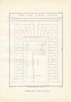 Door Tuscan Order Vignola Classical Architecture at CarambasVintage.  $ 14