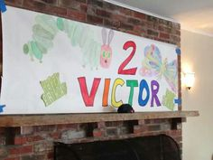 Birthday banner hand drawn and colored