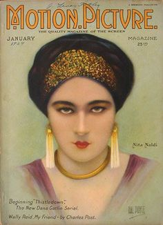 "Nita Naldi on the cover of ""Motion Picture"" magazine, 1924."