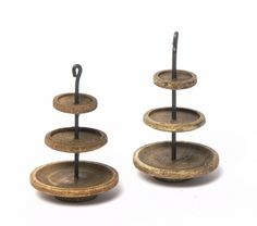 Miniature Wooden Three-Tiered Stand Nut Brown for by DinkyWorld