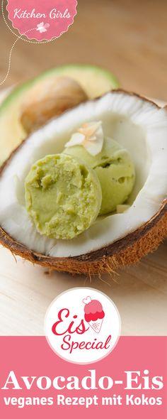 Cremiges Eis ohne Eismaschine herstellen? Geht ganz einfach mit unserem Rezept für Avocado-Kokos-Eis!