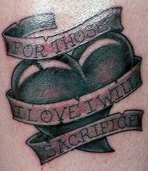 For those I love I will sacrifice
