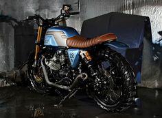 Moto Guzzi V7 Scrambler 2013 by Studio Motor #motorcycles #scrambler #motos | caferacerpasion.com