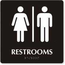 new bathroom signage