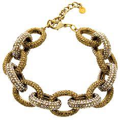 Butler & Wilson Crystal Link Bracelet.
