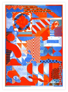 A3 risograph print made for Unit D store at London Design Festival.