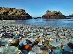 Fort Bragg Beach or simply Glass Beach is one of the weirdest shores on Earth. It is located in MacKerricher State Park, near the military base of Fort Bragg, California. Glass Beach California, Fort Bragg California, Mendocino California, California Usa, Mendocino County, Northern California, Benicia California, Montecito California, Oh The Places You'll Go