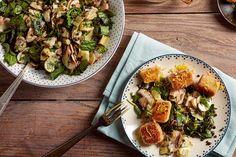 Salade de lentilles aux artichauts et croquettes au fromage maison - Bioplanet.