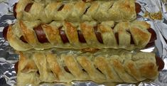 Puff Pastry Wrapped Hot Dogs & Kielbasa