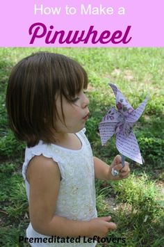 How to Make a Pinwheel - Make a fun and colorful pinwheel with your child for a fun summer project using this tutorial with pictures of each step.