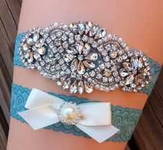 Wedding Garter / Rhinestone Wedding Garter / by SimplyKateGrace, $24.00