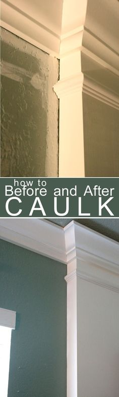 How to Caulk Moldings! #caulk #moldings #DIY - the tip about painting over the caulk is right on.  Our non-painted caulk in our bathrooms attracts dirt  hair.  Will have to fix that when we repaint our bathrooms soon.