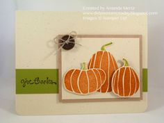 Did You Stamp Today?: Clean and Simple Pumpkin Trio  Uses: Fall Fest, Good Greetings, Fun Fall framelits, Stampin' Up!, SU
