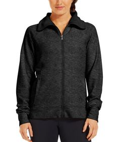 Love this Black Charged Cotton® Storm Marble Sherpa Full Zip Jacket on #zulily! #zulilyfinds