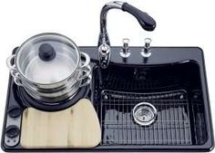 KOHLER PRO CookCenter - A Sink that's a Stove.. http://www.trendhunter.com/slideshow/cutting-board-designs
