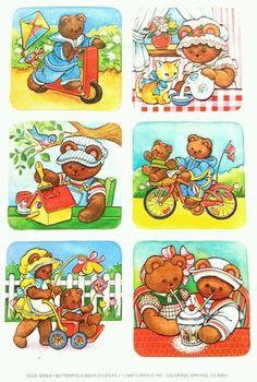 Current, USA Butterfield Bear stickers