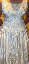 Beautiful Wedding Gown Long Train Sleevless Corset back Custom Free Shipping!!!!