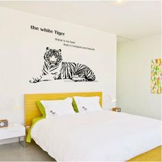 The White Tiger Animals Wall Decals