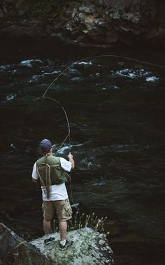 Today is my dad's birthday, here's a picture I took of him fishing the St. Joe River last summer in Idaho - Imgur