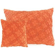 Candlewick Paprika Decorative Pillows