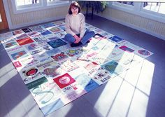 There are approximately 120 t-shirts in this quilt which tell 120 different stories!!