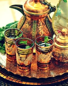 Gorgeous Moroccan tea set.