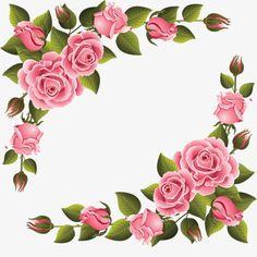 Elegant pink roses shaped pattern Flower Frame, Flower Art, Clip Art, Flower Clipart, Shape Patterns, Floral Patterns, Textile Patterns, Decoupage Paper, Arte Floral