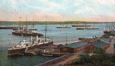 VINTAGE VIEW British Fleet in Halifax Harbour