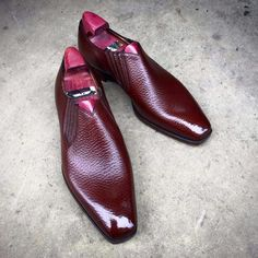 Gaziano & Girling burgundy leather