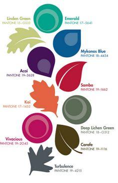 Colores tendencia en otoño 2013 marcados por Pantone