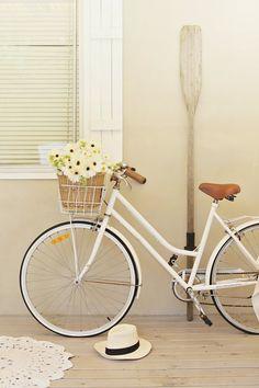 white vintage bike., www.thailandlifestyleproperties.com www.rayongthailandproperties.com.au