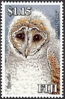 Fiji Owl Postage Stamp - Barn owl