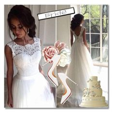 """""""Wedding dress"""" by deeyanago ❤ liked on Polyvore featuring Christian Louboutin"""