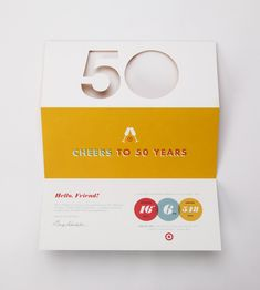 Target 50th Anniversary Party Branding by inHouse