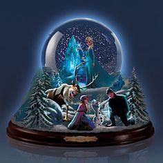 Disney The Magic Of FROZEN Snowglobe - Glows in the Dark